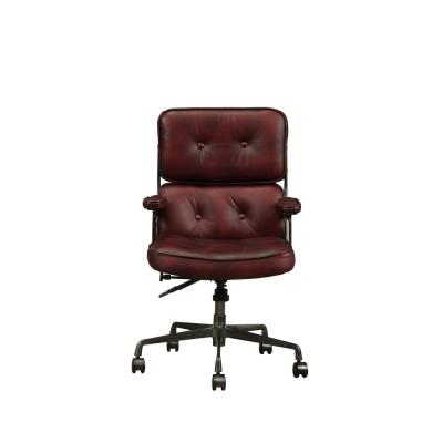 Larisa Vintage Merlot Top Grain Leather Executive Office Chair
