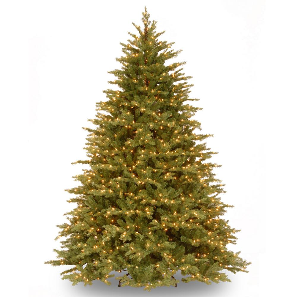 National Tree Company 6-1/2 ft. Feel Real Nordic Spruce Hinged Tree with 750 Clear Lights -  ADULT