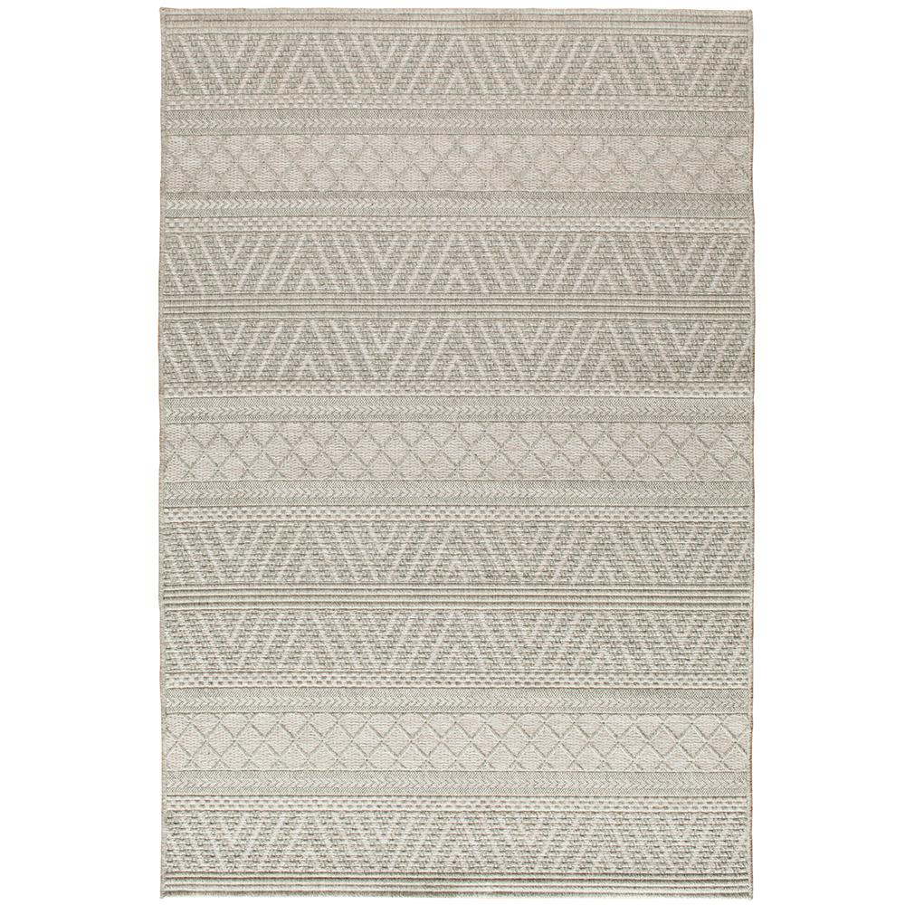 Mizza Light Beige/Light Grey 8 ft. x 11 ft. Rectangle Indoor/Outdoor