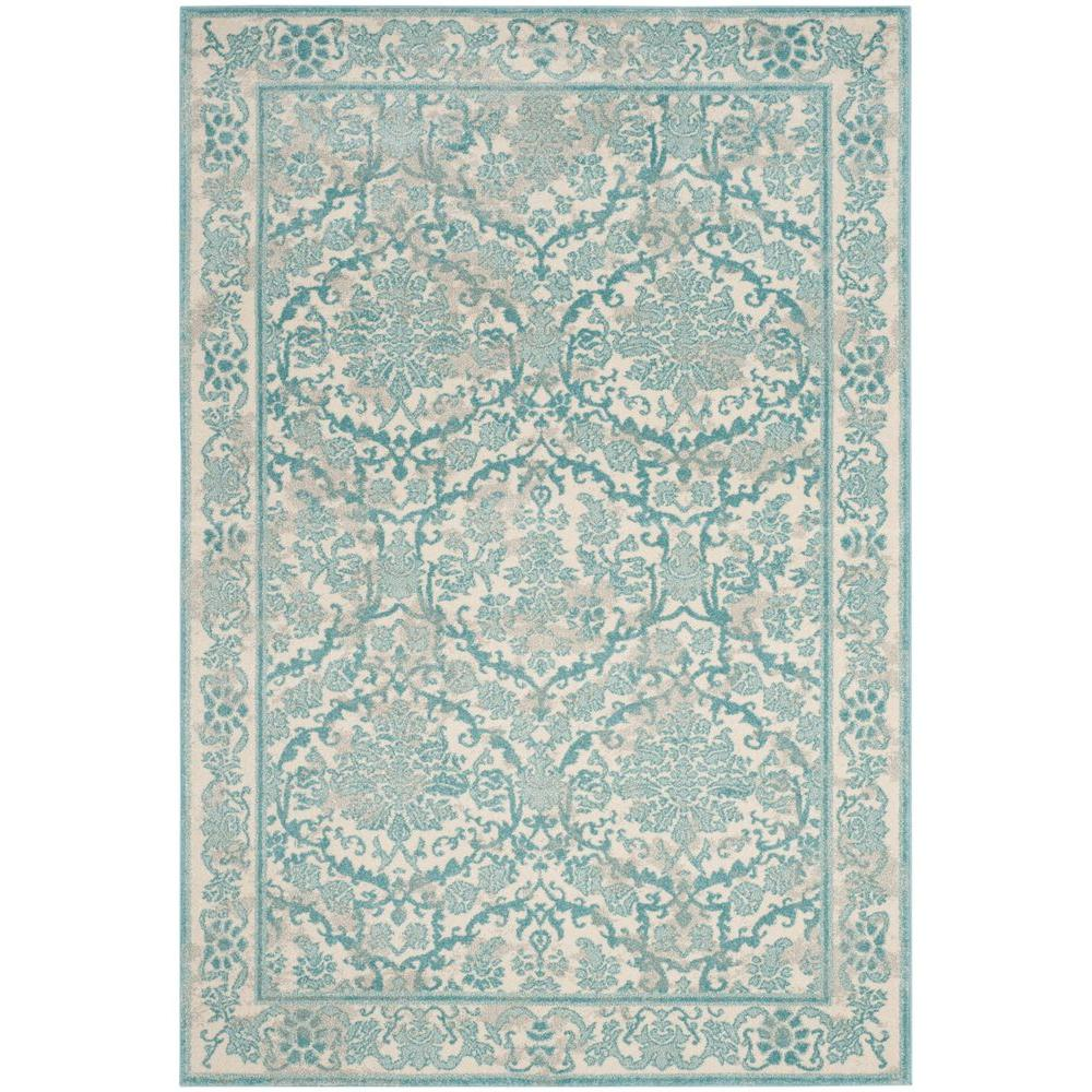 Safavieh Evoke Ivory Light Blue 4 Ft X 6 Ft Area Rug