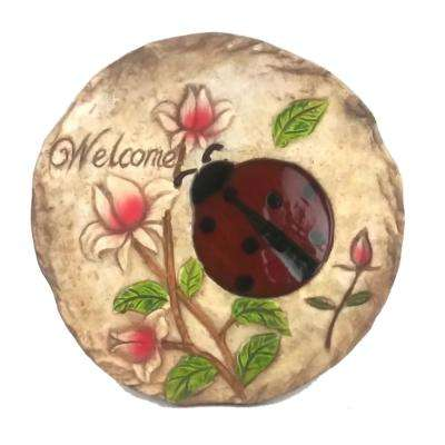 10.75 in. Dia Ladybug Welcome Stepping Stone