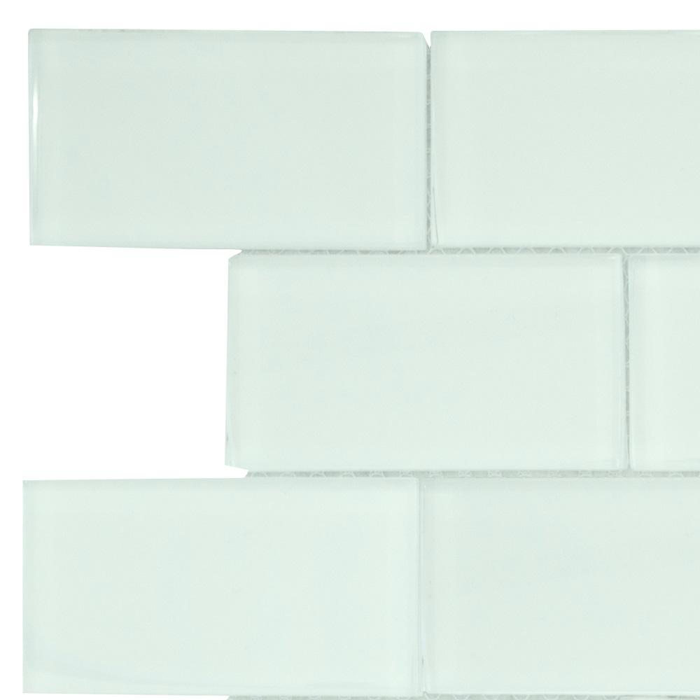 Jeffrey Court Siberian Gloss 3 In X 6 In X 8 Mm Glass Mosaic Tile Sample 94028 The Home Depot