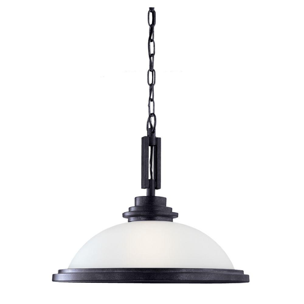 Sea Gull Lighting Winnetka 1-Light Blacksmith Pendant