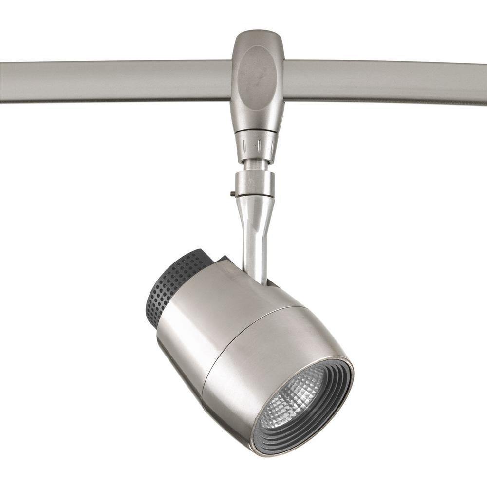 Led Track Lighting Brushed Nickel: Progress Lighting LED Flex Track Collection Brushed Nickel