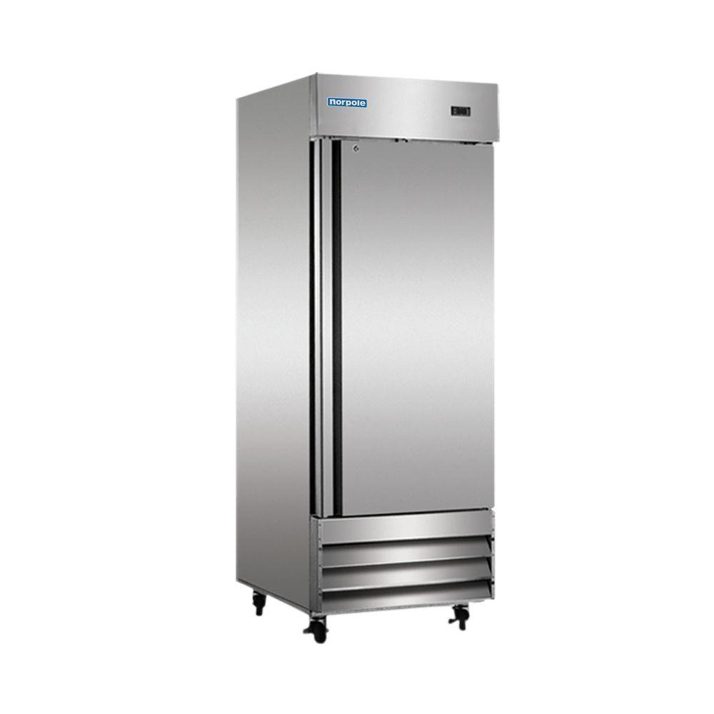 Single Door Commercial Upright Reach In Freezer In Stainless