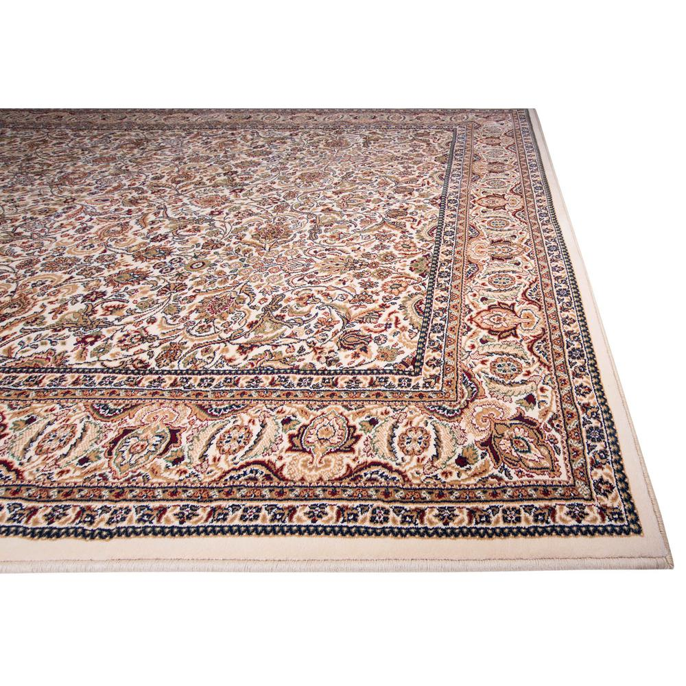 Home Dynamix Super Kashan Ivory 2 ft. 2 in. x Your Choice Length Indoor Roll Runner