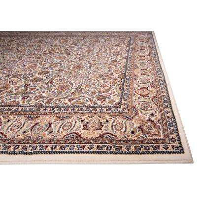 Super Kashan Ivory 2 ft. 2 in. x Your Choice Length Indoor Roll Runner