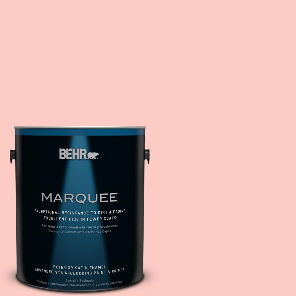 BEHR MARQUEE 1-gal. #170A-2 Strawberry Mousse Satin Enamel Exterior Paint