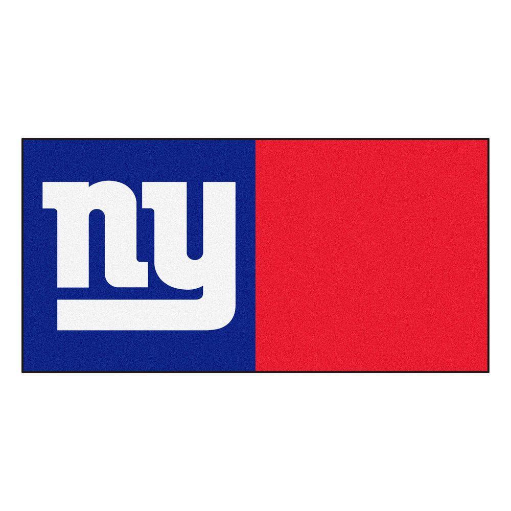 Fanmats Nfl New York Giants Blue And Red Nylon 18 In X 18 In Carpet Tile 20 Tiles Case