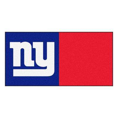 NFL - New York Giants Blue and Red Nylon 18 in. x 18 in. Carpet Tile (20 Tiles/Case)