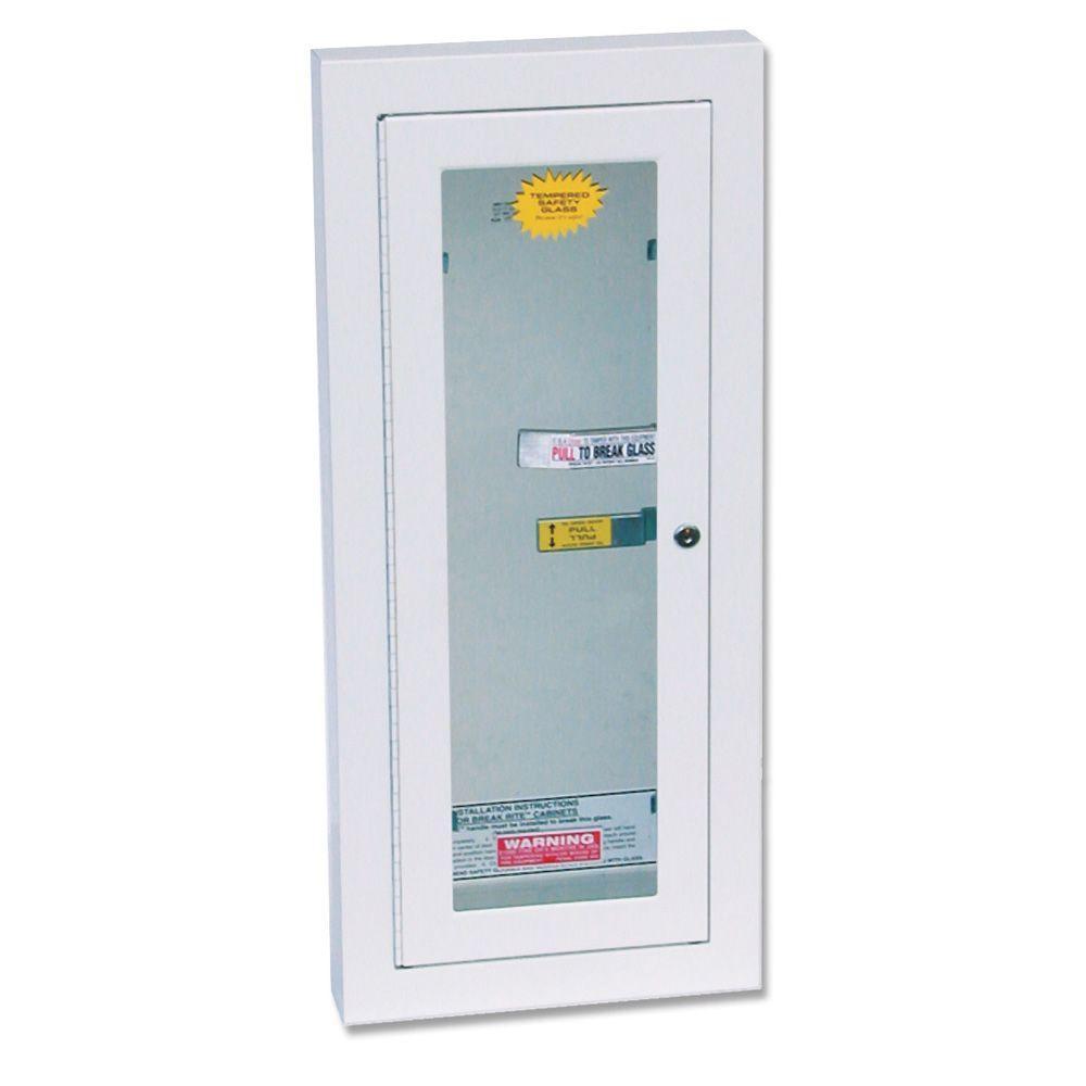 Semi-Recess Locked Fire Extinguisher Cabinet