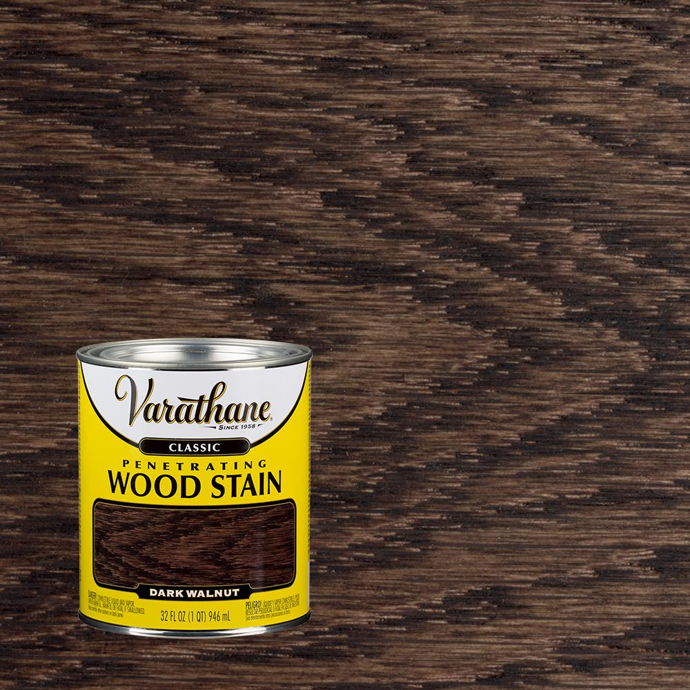 Varathane 1 Qt. Dark Walnut Classic Wood Interior Stain (2