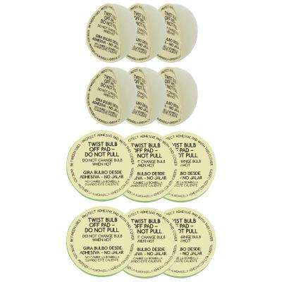 Light Bulb Standard and Small Replacement Pads 12-Pack for Lickety Split