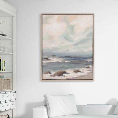 Stormy Shore Coastal Framed Canvas Wall Art