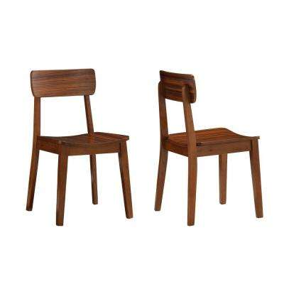Zebra Hagen Rich Walnut Wood Dining Chair (Set of 2)