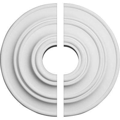 13-1/4 in. O.D. x 3-1/2 in. I.D. x 1/2 in. P Classic Ceiling Medallion (2-Piece)