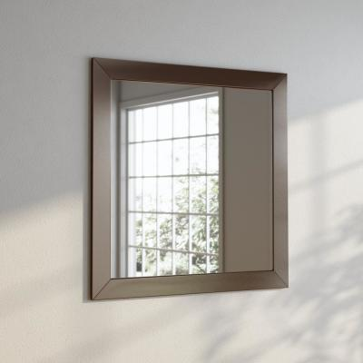 38 in. x 38 in. Silver Petite Square Vanity Wall Mirror