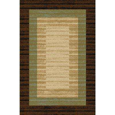 Hamam Collection Brown 1 ft. 6 in. x 2 ft. 7 in. Rubber Back Area Rug