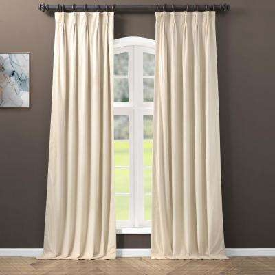 Blackout Signature Ivory Pleated - 25 in. W x 84 in. L (1 Panel)