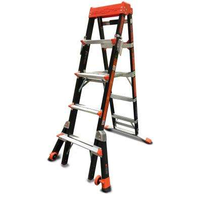 Select Step 5-8 ft. Fiberglass Type IAA 375 lb Rated Ladder