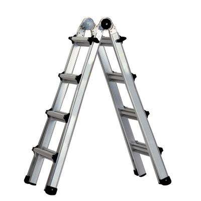 17 ft. Aluminum World's Greatest Multi-Position Ladder with 300 lb. Load Capacity