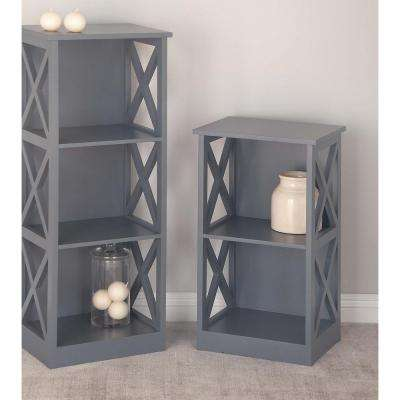 Gray Wooden Shelving Unit