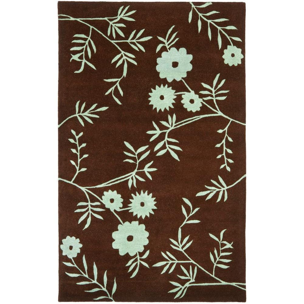 Safavieh Soho Brown/Teal 5 ft. x 8 ft. Area Rug