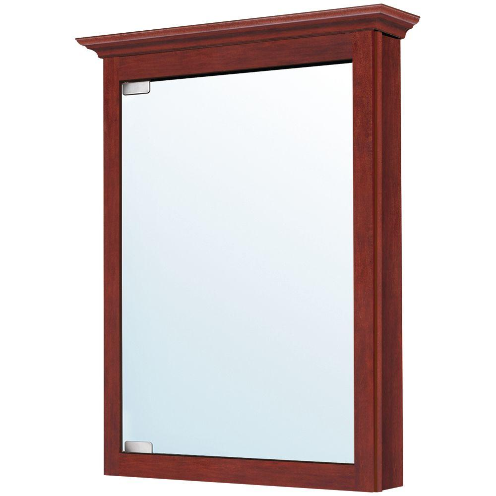 MasterBath 24 in. Surface Mount Medicine Cabinet in Burgundy-DISCONTINUED