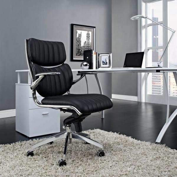 MODWAY Escape Mid Back Office Chair in Black EEI-1028-BLK