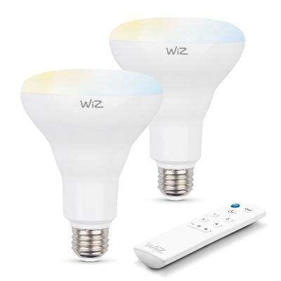 72W Equivalent Wi-Fi White BR30 LED Smart Light Bulb with Alexa and Google Home Compatibility (Pack of 2)