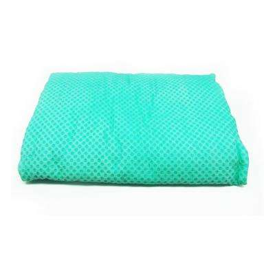 32 in. x 16 in. Cooling Towel in Green