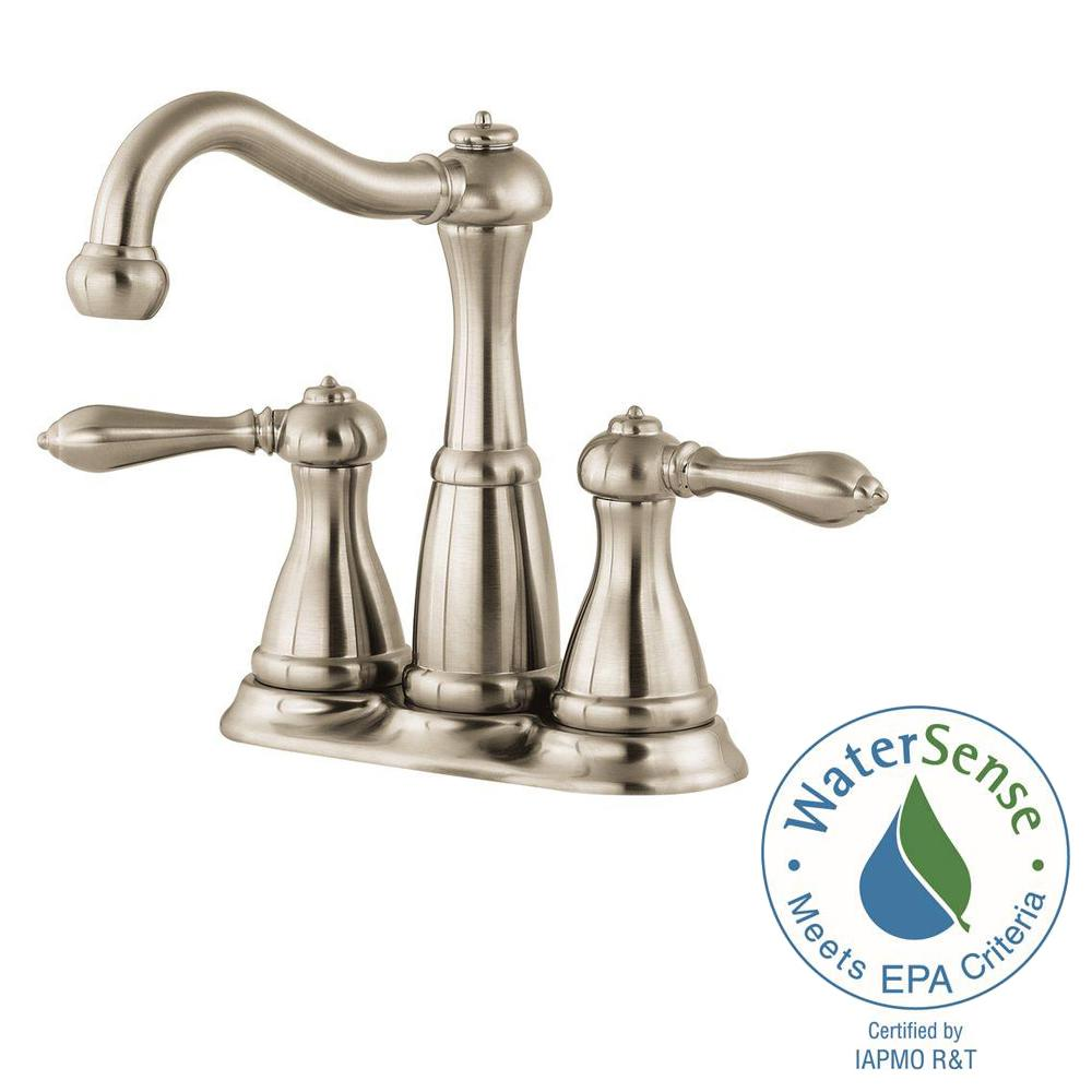Pfister Marielle 4 In Minispread 2 Handle Bathroom Faucet In Brushed Nickel Lf 046 M0bk The