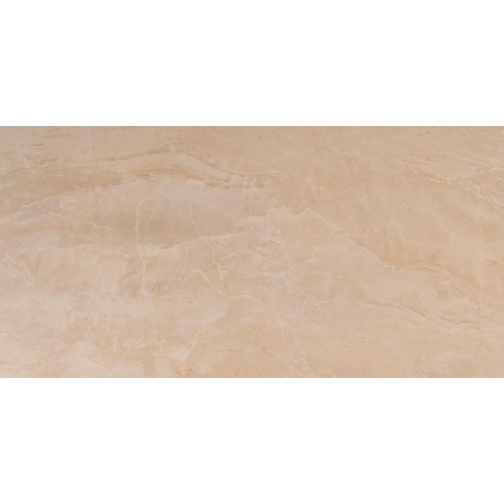 Msi Onyx Sand 12 In X 24 In Glazed Porcelain Floor And
