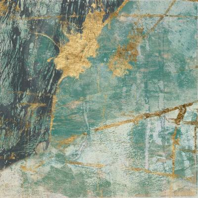 "54 in. x 54 in. ""Teal Lace I"" by Jennifer Goldberger Wall Art"