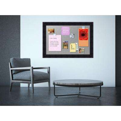 Annatto Mahogany Wood 41 in. W x 29 in. H Framed Magnetic Board