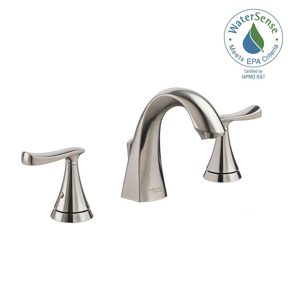 American Standard Chatfield 8 In. Widespread 2 Handle Bathroom Faucet In  Brushed Nickel