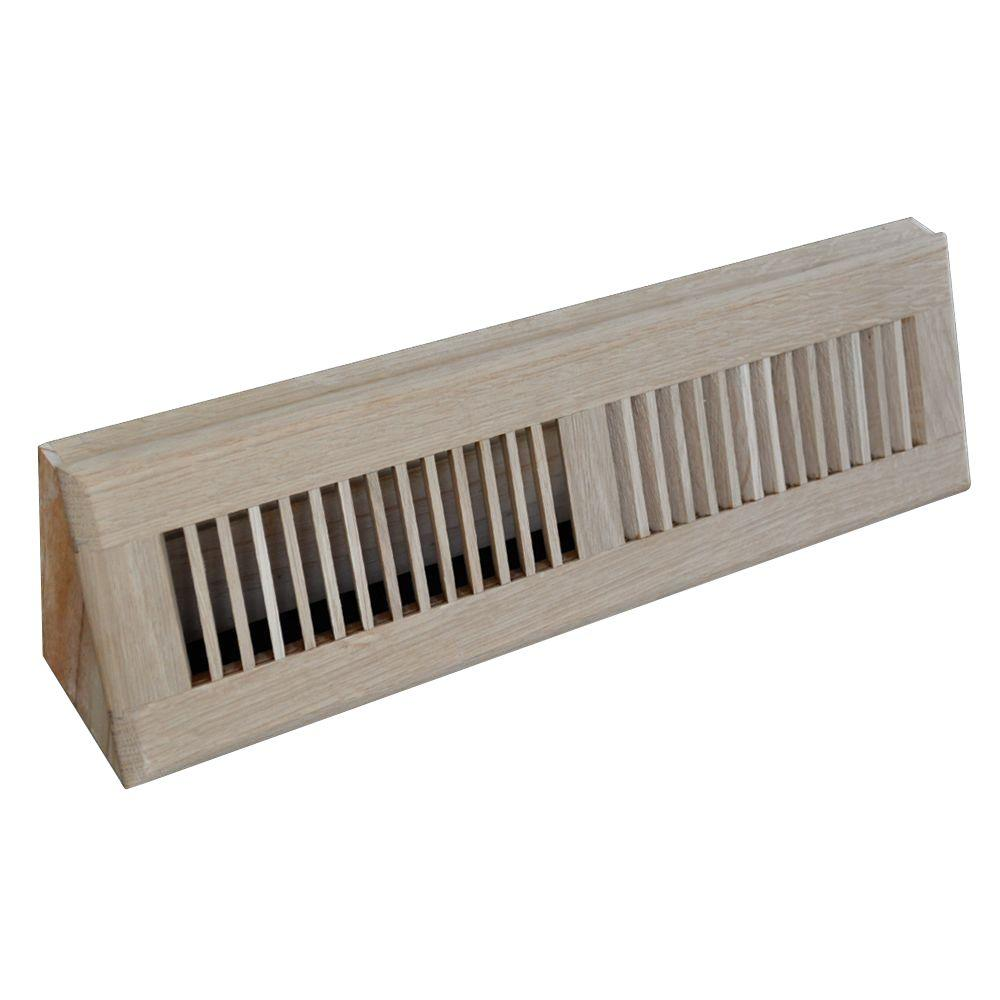 T.A. Industries 18 in. Wood Oak Baseboard Unfinished Diffuser
