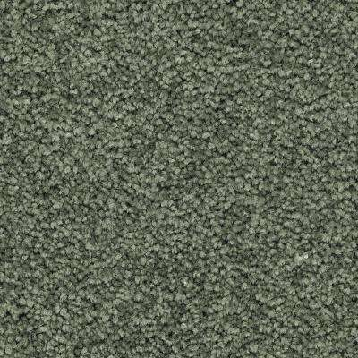 Carpet Sample - Unblemished II - Color Global Green Textured 8 in. x 8 in.
