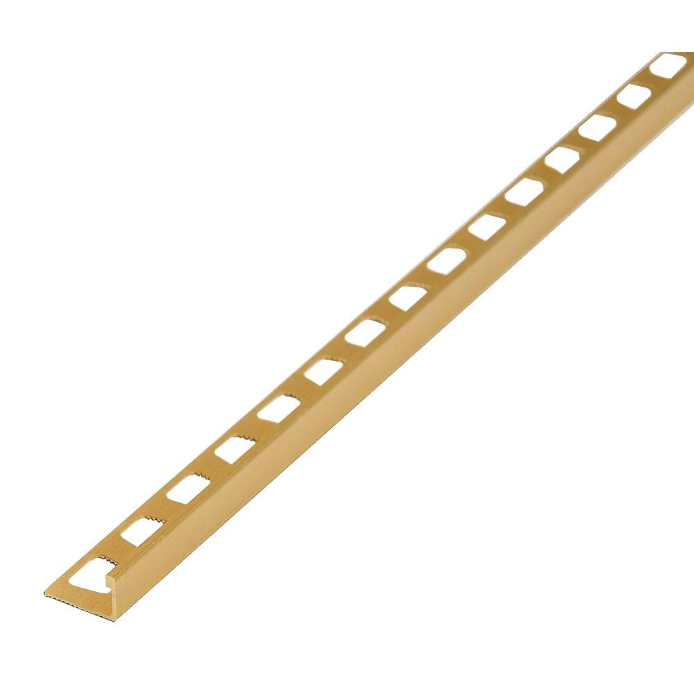 Satin Brass 1-3/8 in. x 96 in. Aluminum Metal Edge Reducer