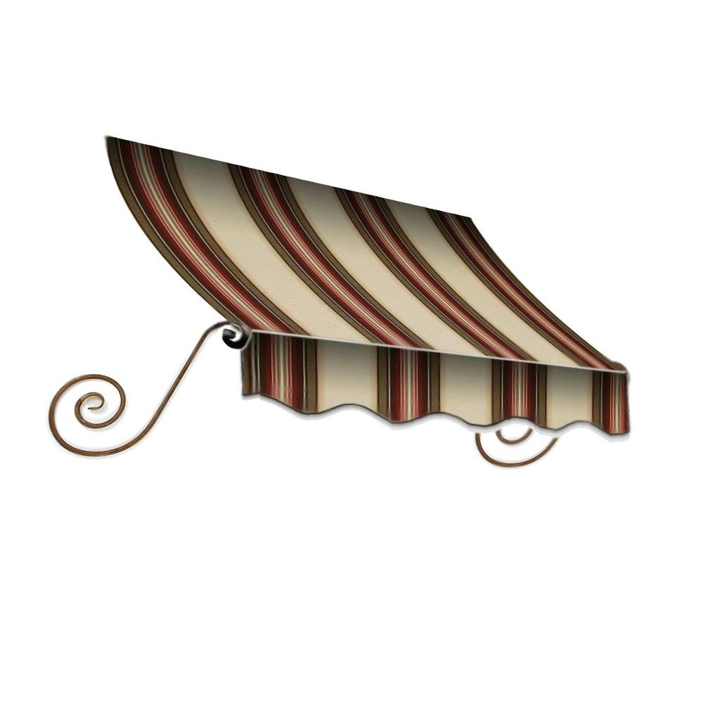 AWNTECH 7 ft. Charleston Window Awning (24 in. H x 12 in. D) in Brown/TerraCotta