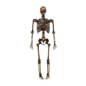 5 ft Hanging Plastic Decayed Posable Skeleton with LED Eyes