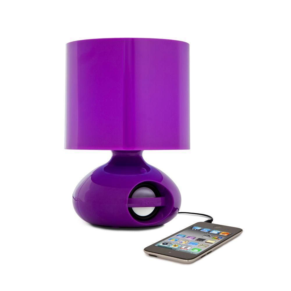 iHome LED Speaker Desk Lamp- Purple-DISCONTINUED