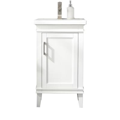 Avery 20 in. W x 15.7 in. D Bath Vanity in White with Porcelain Vanity Top in White with White Basin