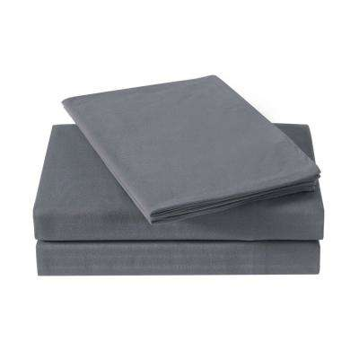 Everyday Solid Jersey Charcoal Twin XL Sheet Set