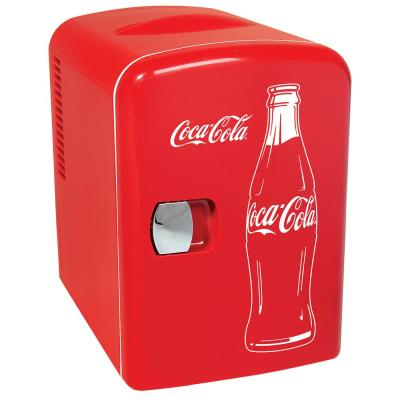 Classic 0.14 cu. ft. 6 Can AC/DC Mini Fridge in Red without Freezer