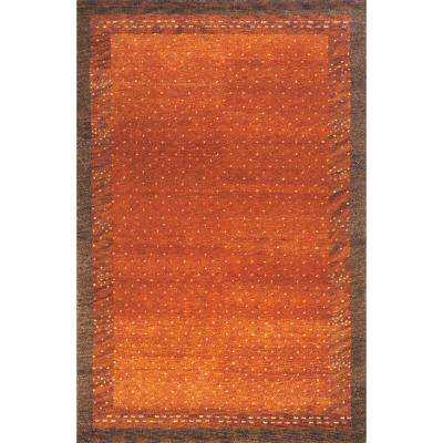 Desert Gabbeh Paprika 10 ft. x 14 ft. Indoor Area Rug