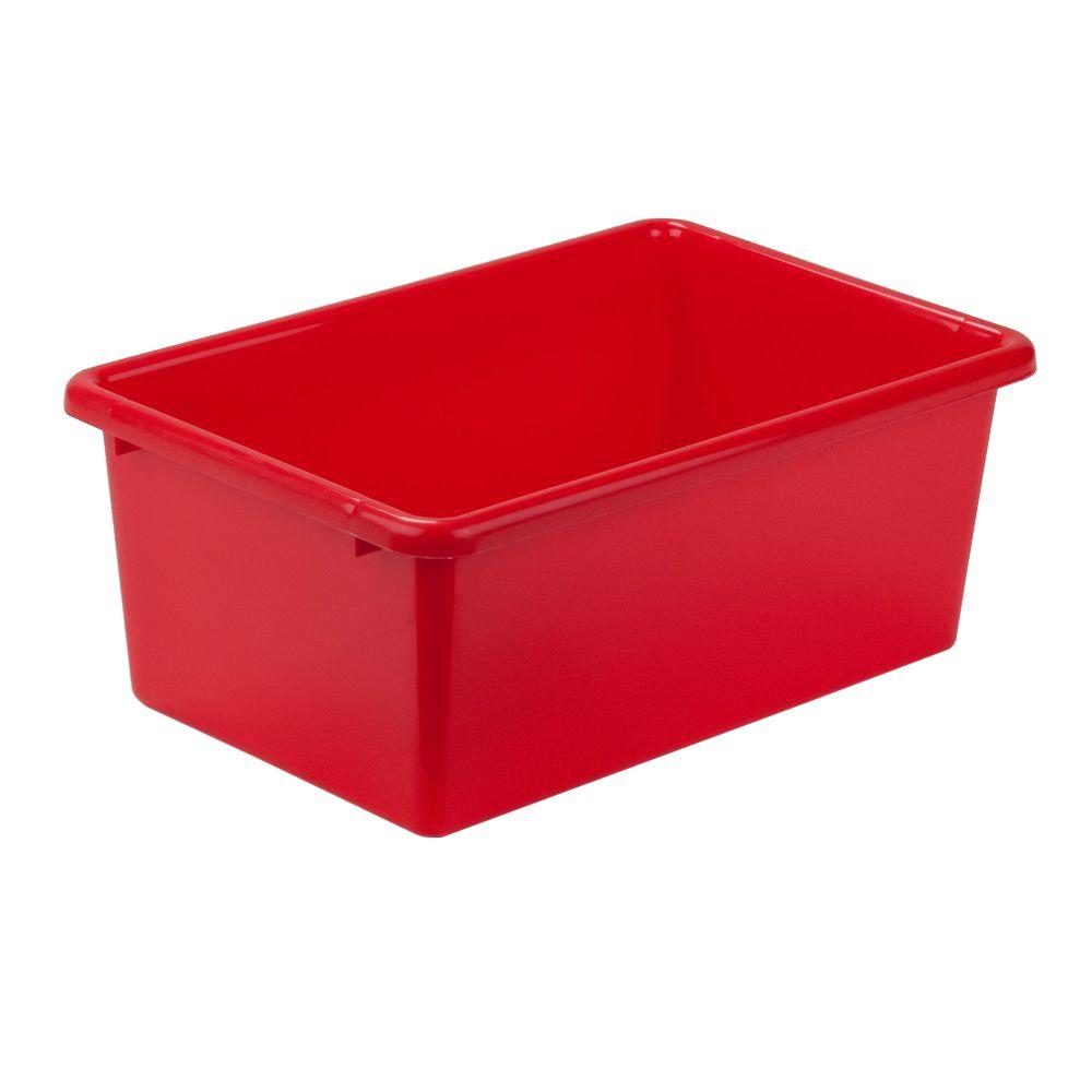 Honey-Can-Do 7.9-Qt. Storage Bin in Red