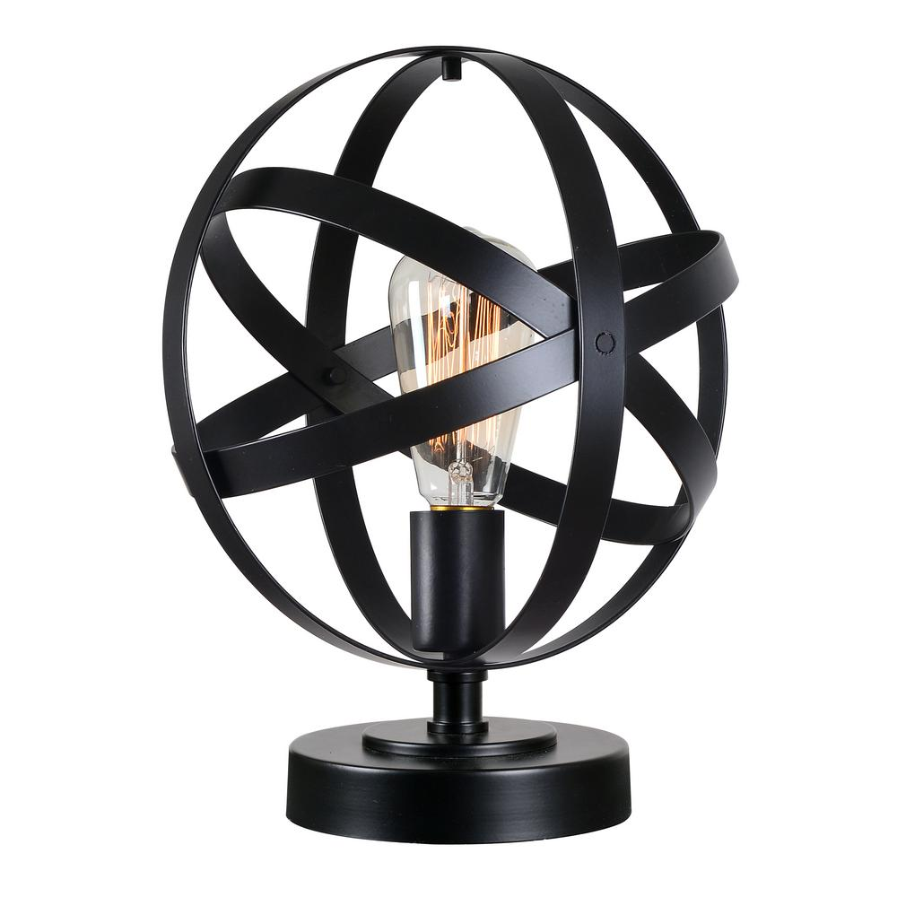 Global 12 in. Black Accent Lamp