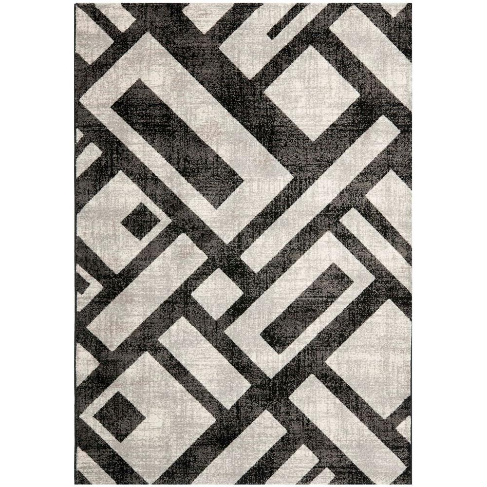 Porcello Black/Grey 8 ft. x 11 ft. 2 in. Area Rug
