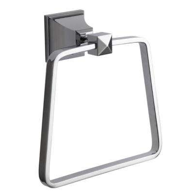 Classic Hotel Wall Mounted Towel Ring in Chrome